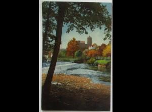 Photochromie, Fluss mit Burg, Berlin 1917 nach Gnetsch (20278)