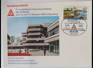Gewerkschaft IG Metall 17. Gewerkschaftstag Hamburg 1992 (70904)