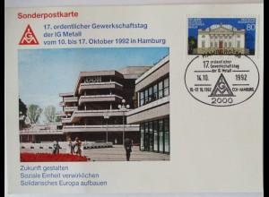 Gewerkschaft IG Metall 17. Gewerkschaftstag Hamburg 1992 (70348)