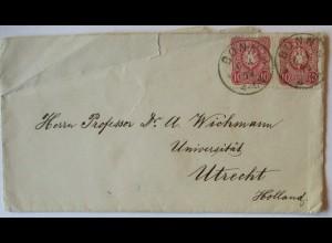 Geologie, Brief 1879 an Professor Arthur Wichmann Universität Utrecht (49322)