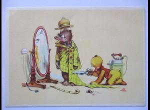 Tiere, Bären, Mode, Schneider, Spiegel