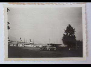 Schiffe, Hafen in Zürich Schweiz, Oldtimer, 1950 ♥ (30333)