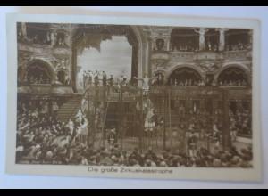 Zirkus, Artisten, Die große Zirkuskatastrophe Lichtspiele Kevelaer 1910♥(49227)