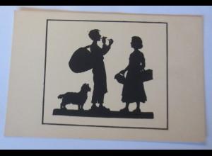 Scherenschnitt, Die Zigarre, 1920, Anna Schirmer ♥ (64247)