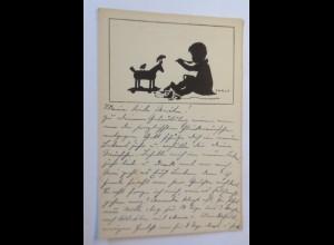 Scherenschnitt, Kinder, Spielzeug, Suppe, 1920, Carus ♥ (64252)
