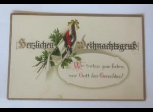 Weihnachten, Fahnen, Wir treten zum beten, vor Gott, 1915, Prägekarten ♥ (53402)