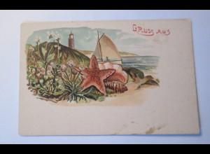 """""""Leuchtturm, Muscheln, Meer, Gruß aus"""" 1900 ♥"""