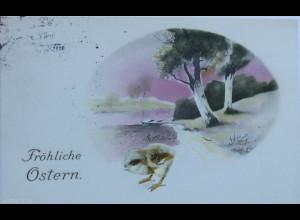 """Ostern, Küken, Landschaft"" 1913 ♥ (12862)"