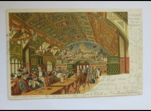 """München, Hofbräuhaus, Bier"" 1900, Aquarell ♥"
