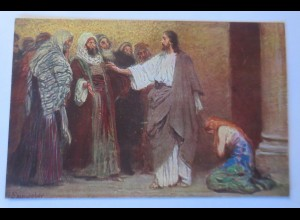 Die Heilige Schrift, Serie 8, Bild 5, Jesus, 1910,R. Leinweber ♥