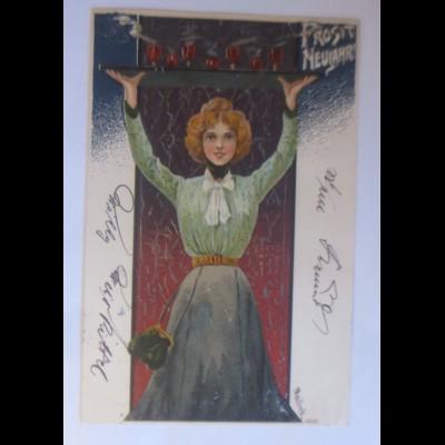 Mailick, Neujahr, Frauen, Mode, Bowle, Silvester, 1903 ♥ (33309)