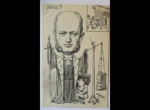 Frankreich Politik, Karikatur, Dreyfus Justiz, signiert Lavigne (33618)