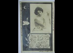 Jugendstil Fotokunst, Fotokarte 1900 aus Wien (65735)