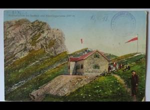 Reitherspitze bei Seefeld und Nördlingerhütte, Hüttenstempel 1913 (49521)