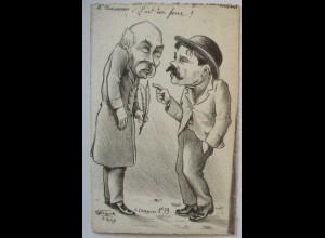 Frankreich Politik, Karikatur, Clemenceau sign. Molynk (63489)