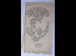 Klappkarte, Silberne Hochzeit, 1900 15 cm x 8 cm ♥ (53200)