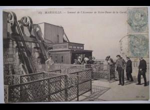 Frankreich, Marseille, Aufzug Bergbahn, Notre Dame de la Garde