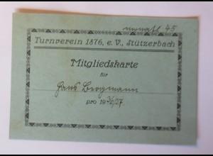 Mitgliedskarte Turnverein 1936/37 E.V. Stützerbach 1910 ♥ (6469)