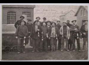 Bergbau Frankreich, Lens, Minenarbeiter, Feldpost 1917 (4433)