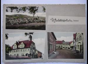 Waldböckelheim, Mehrbildkarte, ca. 50er Jahre