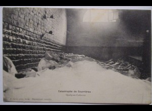 Bergbau Grubenunglück von Courrières 1906, La Catastrophe, Totenhalle