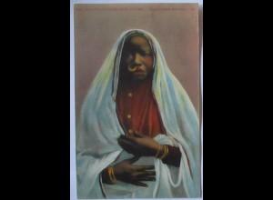 Ägypten Types and Scenes, Sudanese Woman, Afrikanerin ca. 1910 (68642)