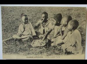Afrikaner Kinder, Colonies Africaines, Frankreich ca. 1920 (53988)
