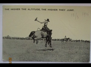 USA Wild West Rodeo, The Higher The Altitude 1916 (6078)