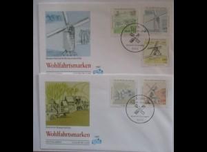 Windmühlen, 2 FDC Deutschland 1997(31904)