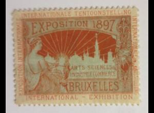 Vignetten Exposition Internationale Brüssel Belgien 1897 ♥ (32738)