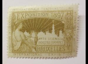 Vignetten Exposition Internationale Brüssel Belgien 1897 ♥ (56073)