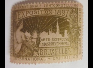 Vignetten Exposition Internationale Brüssel Belgien 1897 ♥ (40495)