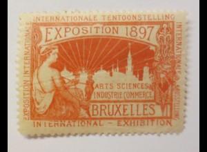 Vignetten Exposition Internationale Brüssel Belgien 1897 ♥ (37520)