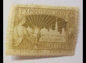 Vignetten Exposition Internationale Brüssel Belgien 1897 ♥ (47686)