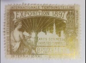 Vignetten Exposition Internationale Brüssel Belgien 1897 ♥ (51843)