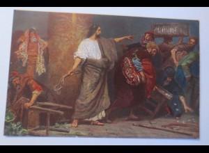 Die Heilige Schrift, Serie 8, Bild 9, Tempelreinigung, 1910,R. Leinweber♥