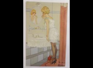 Künstlerkarten, Frauen, Mode, Bad, Affe, 1910 ♥ (17890)