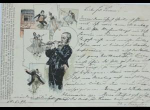 """Künstlerkarte, Fritz Reiss"" 1899 Schwarzwald-Postkarten, Nr.8"" ♥ (12911)"