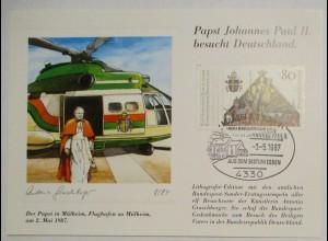 Hubschrauber, Vatikan Papst Johannes Paul II. 1987 (33788)
