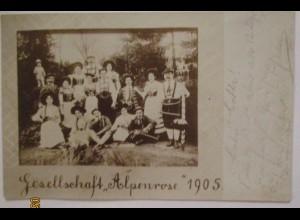 Gesellschaft Alpenrose, Trachten, Fotokarte (36985)