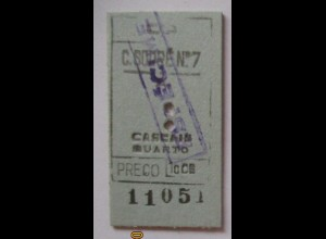 Fahrkarte Portugal Cascais ca. 70er Jahre (21349)