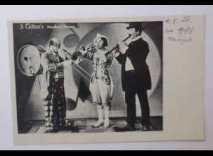 """Zirkus, Clown, 3 Götze´s Musikal-Clowns"" 1940 ♥"