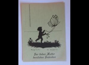 Scherenschnitt, Der Lieben Mutter; 1946, E.Irmgard, Handgeschnitten ♥ (35008)