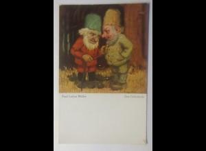 Zwerge, Das Geheimnis, 1910, Paul Lothar Müller ♥ (71483)