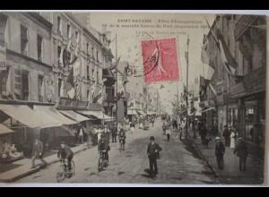 Frankreich, St. Nazaire, Fetes de Inauguration, Rue de Nantes 1907