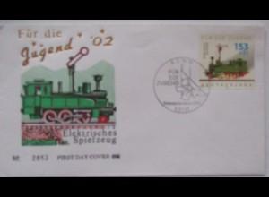 Spielzeug Eisenbahn FDC Deutschland 2002 (2395)