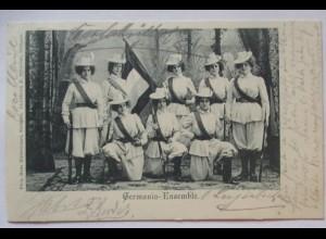 Frauen Künstler Variete Germania-Ensemble, 1901 (61840)