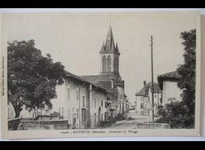 Frankreich, Moyenvic, Eingang zum Dorf, ca.1910 (62160)
