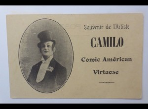 """Zirkus, Clown, Artist Camilo, Comic American Virtuose"" 1910 ♥"