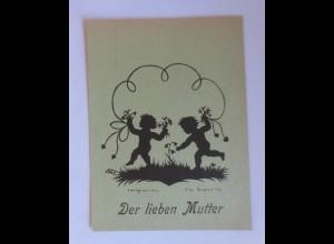Scherenschnitt, Der Lieben Mutter; 1946, E.Irmgard, Handgeschnitten ♥ (35011)